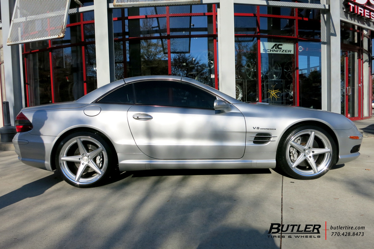 Mercedes SL-Class with 20in Vossen VWS3 Wheels