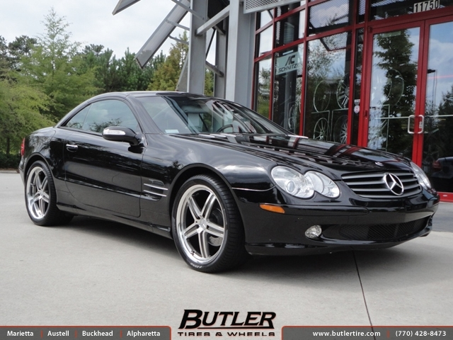 mercedes sl class with 19in mandrus mannheim wheels exclusively from butler tires and wheels in. Black Bedroom Furniture Sets. Home Design Ideas