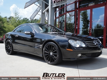 Mercedes SL-Class with 19in Mandrus Rotec Wheels