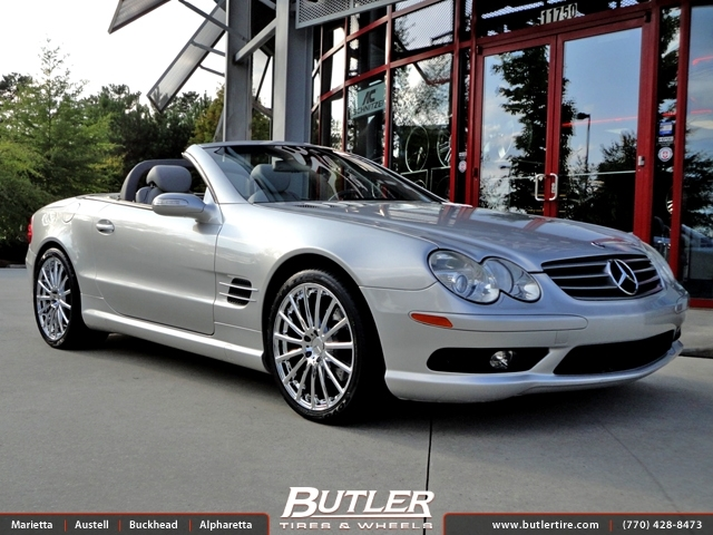 Mercedes SL-Class with 19in Mandrus Rotec Wheels exclusively from Butler Tires and Wheels in ...