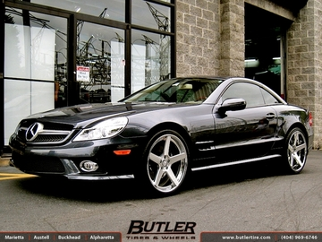 Mercedes SL-Class with 20in DUB 1 Five Wheels