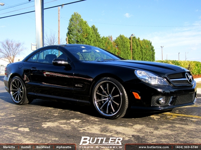 Mercedes SL-Class with 20in Lexani CVX 55 Wheels