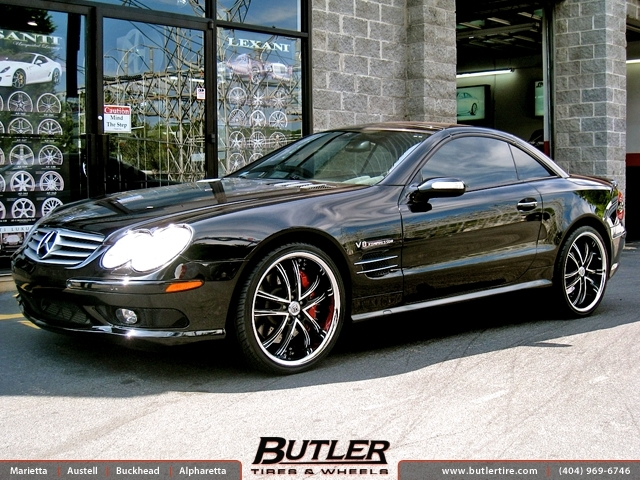 Mercedes SL-Class with 20in Lexani LSS55 Wheels
