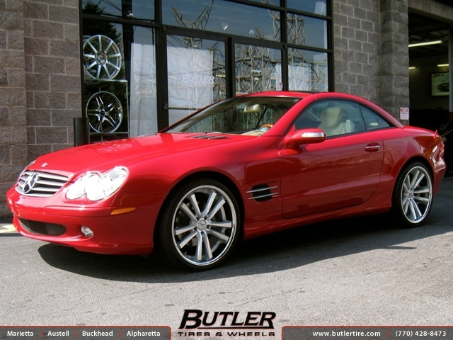 Mercedes SL-Class with 20in Niche Concourse Wheels