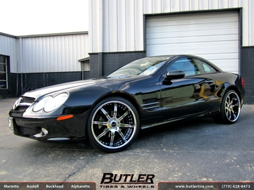 Mercedes SL-Class with 20in Savini BS3 Wheels