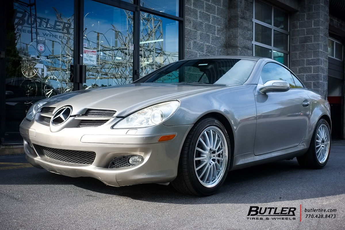 Mercedes SLK with 17in Mandrus Millenium Wheels
