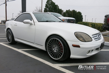 Mercedes SLK with 18in Mandrus 23 Wheels