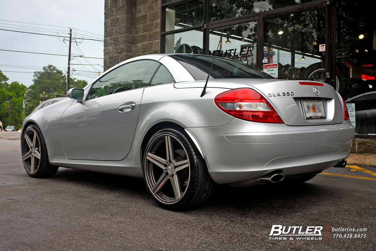 Mercedes SLK with 19in Mandrus Estrella Wheels