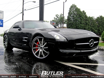 Mercedes SLS with 22in Savini SV37c Wheels