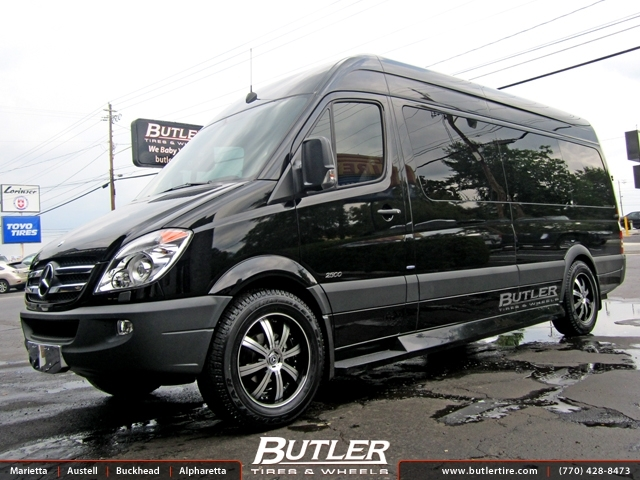 Mercedes sprinter with 20in savini bm5 wheels exclusively for Mercedes benz tire inflator