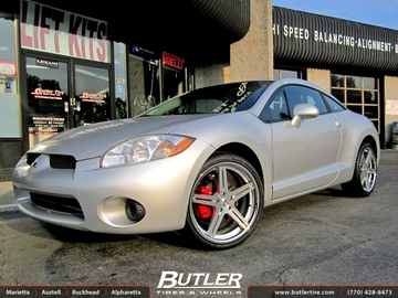Mitsubishi Eclipse with 20in TSW Mirabeau Wheels