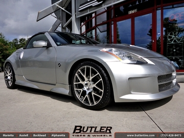 Nissan 350Z with 19in TSW Nurburgring Wheels