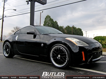 Nissan 350Z with 19in TSW Valencia Wheels