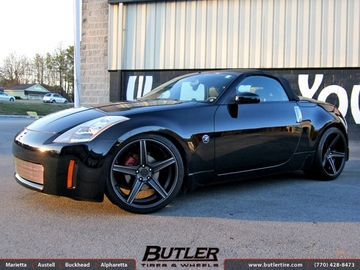 Nissan 350Z with 20in Niche Apex Wheels