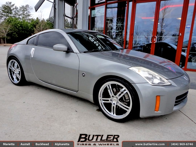 Nissan 350Z with 20in TSW Indy 500 Wheels