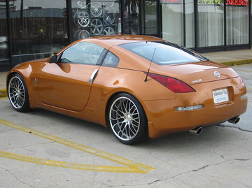 Nissan 350z with 20in Maya STM Wheels