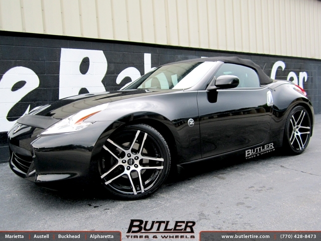 Nissan 370Z with 20in Ruff Racing R954 Wheels