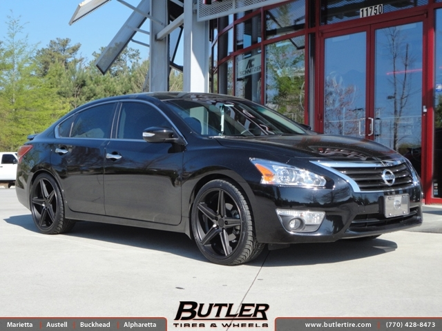 Gold Nissan Altima >> Nissan Altima with 20in Niche Apex Wheels exclusively from ...