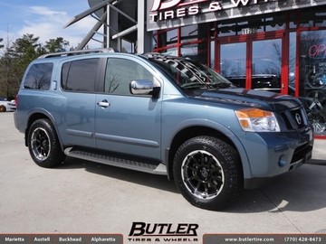 Nissan Armada with 20in Black Rhino Trail Wheels