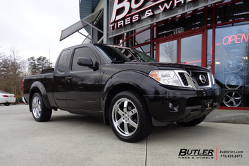 Nissan Frontier with 20in Black Rhino Pondora Wheels