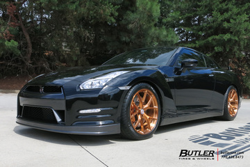 Nissan GTR with 20in HRE P101 Wheels