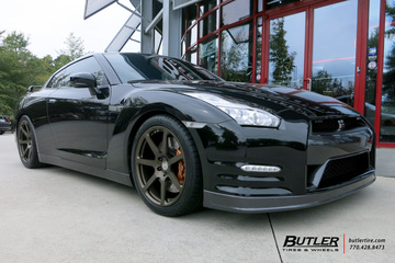 Nissan GTR with 20in HRE RS108M Wheels