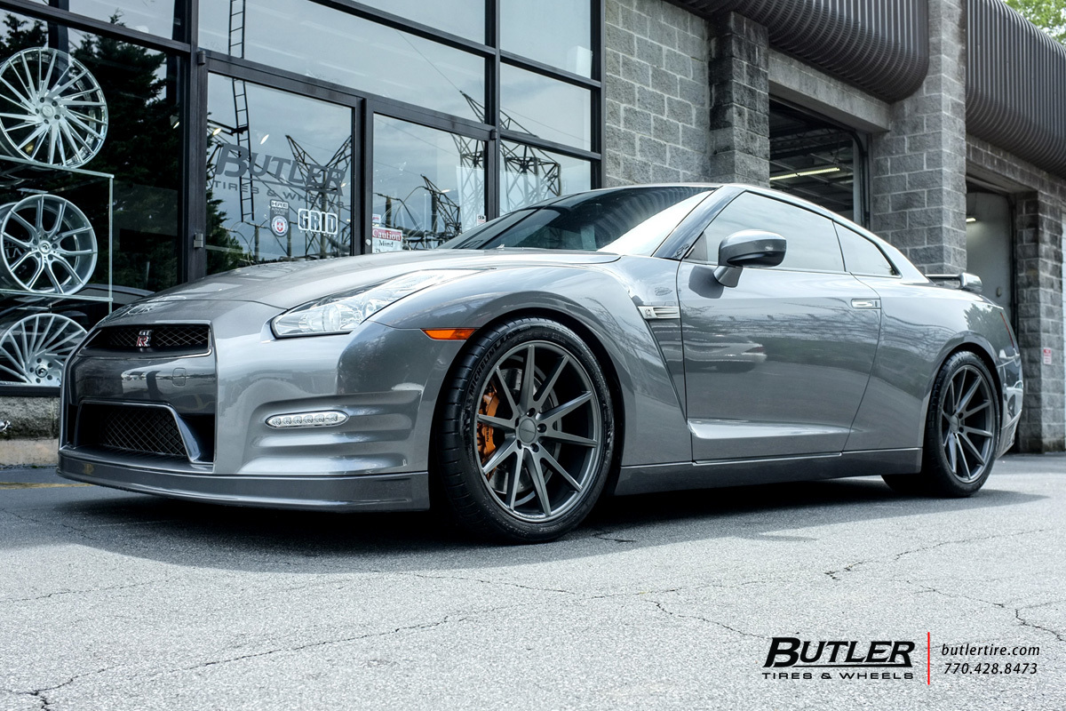 Nissan GTR with 20in Vossen VFS1 Wheels exclusively from Butler Tires and Wheels in Atlanta, GA ...