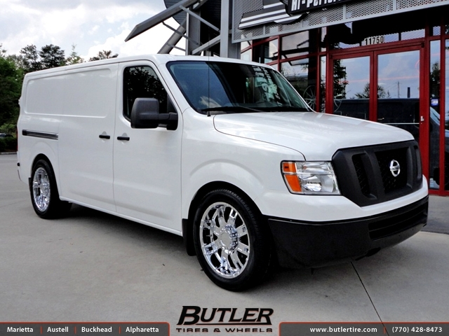 nissan nv1500 hd with 22in helo he835 wheels exclusively from butler tires and wheels in atlanta. Black Bedroom Furniture Sets. Home Design Ideas