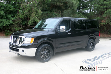 Nissan NV3500 HD with 20in Fuel Maverick Wheels