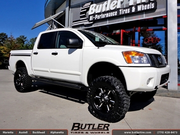 Nissan Titan with 20in Fuel Dune Wheels
