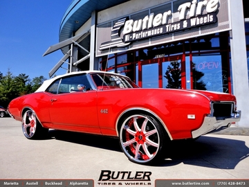Oldsmobile Cutlass with 22in Savini BS3 Wheels