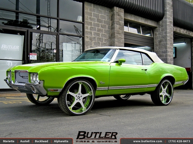 Oldsmobile Cutlass with 24in Forgiato Quinto Wheels