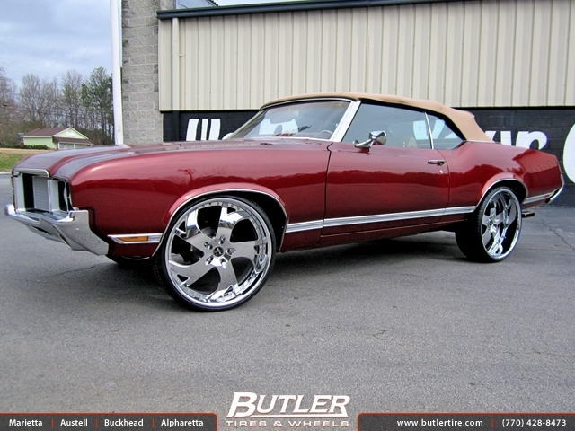 Ferrari Of Atlanta >> Oldsmobile Cutlass with 24in Vellano VTG Wheels exclusively from Butler Tires and Wheels in ...