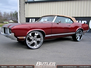 Oldsmobile Cutlass with 24in Vellano VTG Wheels