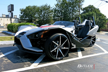 Polaris Slingshot with 22in Lexani CSS7 Wheels