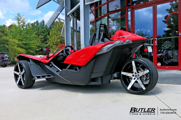 Polaris Slingshot with 22in Lexani Invictus Wheels