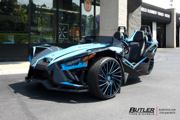 Polaris Slingshot with 22in Lexani Wraith Wheels