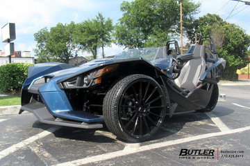 Polaris Slingshot with 22in Savini BM16 Wheels