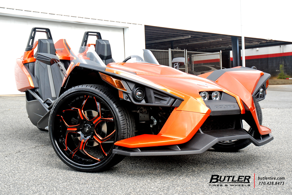 Polaris Slingshot with 22in Savini SV53 Wheels exclusively ...