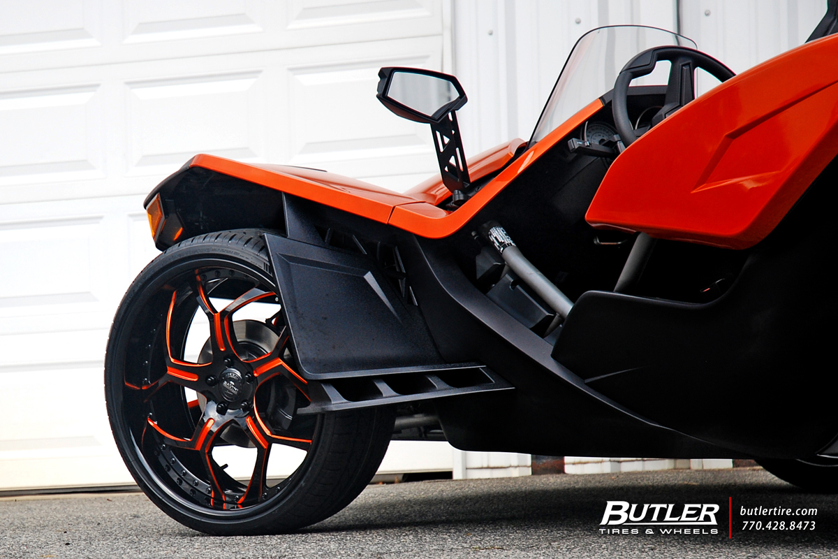 Polaris Slingshot with 22in Savini SV53 Wheels