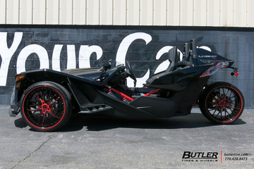 Polaris Slingshot with 22in Savini SV54 Wheels