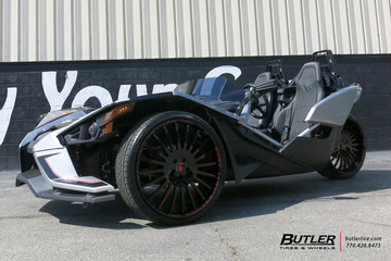 Polaris Slingshot with 24in Forgiato Andata Wheels
