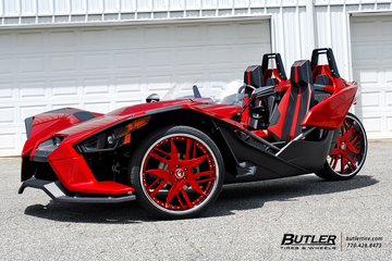 Polaris Slingshot with 24in Forgiato Decimo Wheels