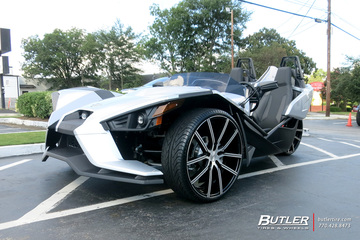Polaris Slingshot with 24in Lexani Gravity Wheels