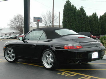Porsche 911 with 18in Techart Daytona Wheels