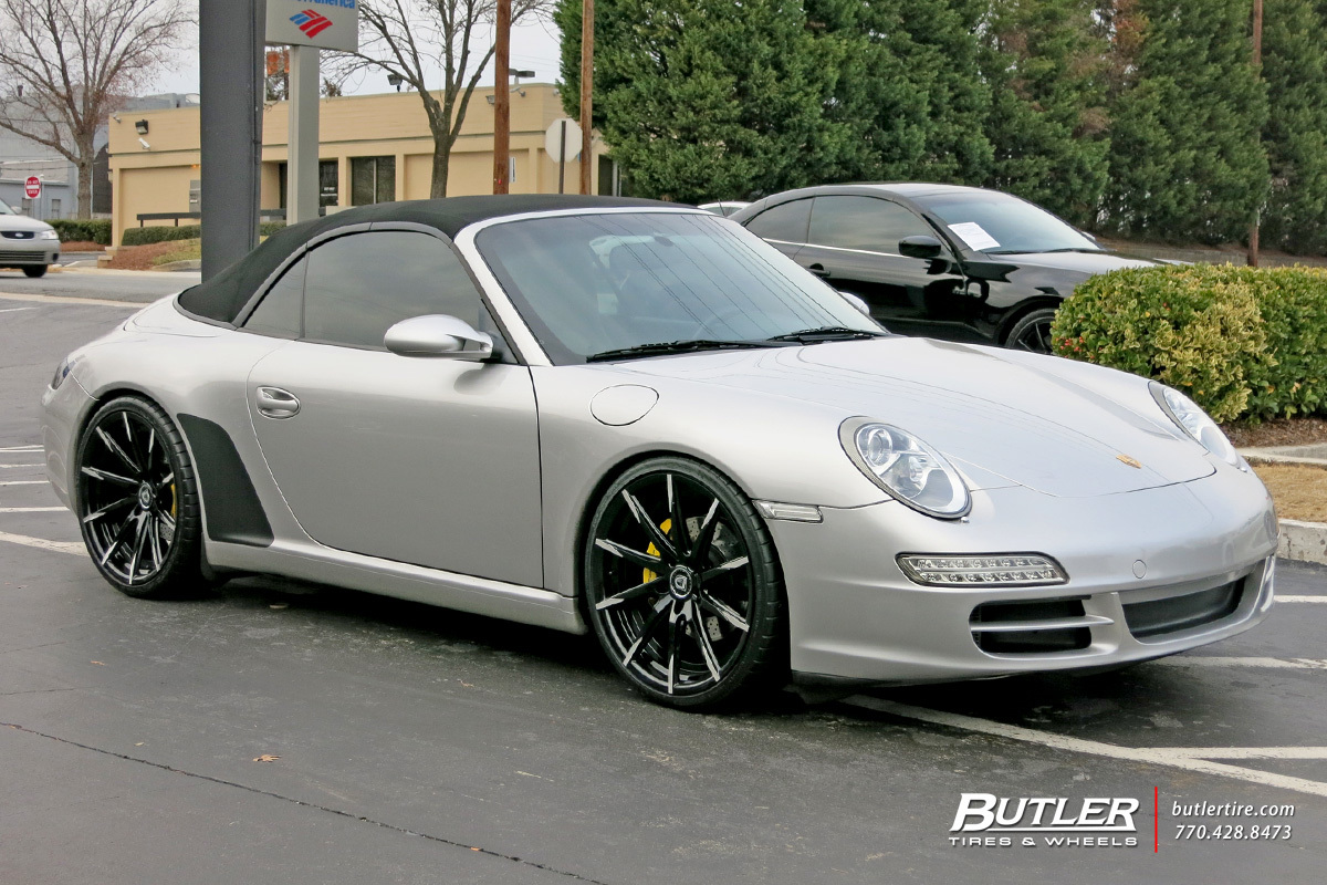 porsche 911 with 20in lexani css15 wheels exclusively from. Black Bedroom Furniture Sets. Home Design Ideas