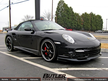 Porsche 911 with 20in Techart Wheels