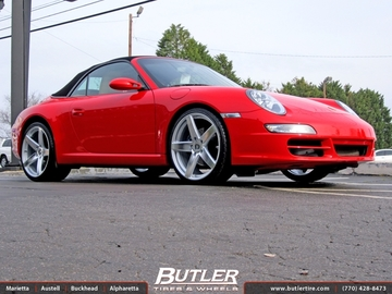 Porsche 911 with 20in Victor Baden Wheels