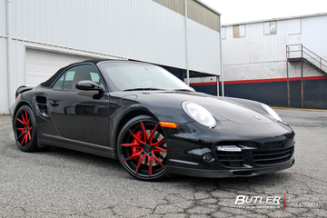Porsche 911 Turbo with 20in Lexani LZ-102 Wheels