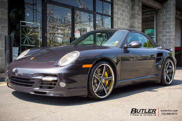 Porsche 911 Turbo with 20in Savini SV44 Wheels